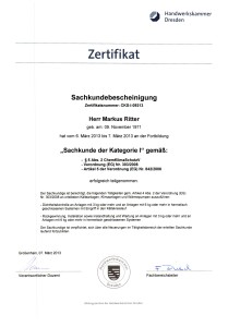 Zertifikat der IHK