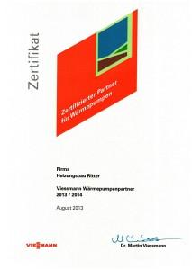 Zertifikat von Viessmann