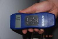 Messgeräte während einer Bautrocknung