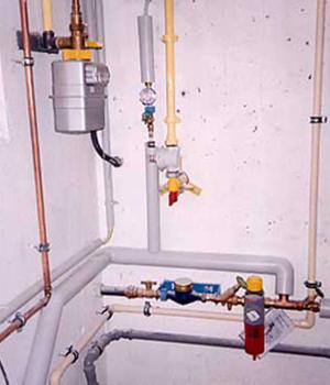 Gasleitungen bei einem Kunden in Dresden