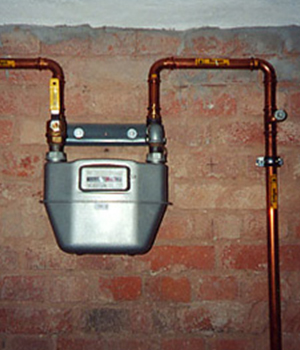 Gaszähler bei einem Kunden